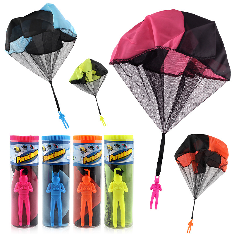HOT Kids Hand Throwing Parachute Toy Sports Funny Kawaii Children Educational Soldier Outdoor Games Toys Outdoor Sports