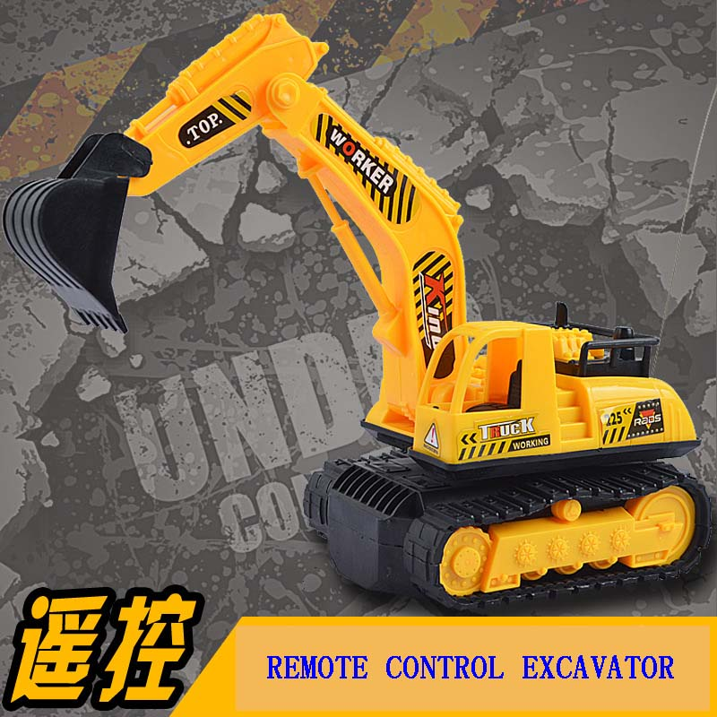 Baby toys 2ch remote control car boy toys rc car engineering truck electric excavator bulldozer kids toys gifts collection