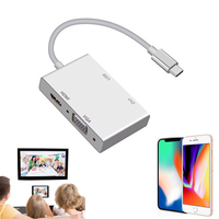 USB 3 1 Type C To VGA HDMI And USB3 0 OTG Adapter Video Converter For