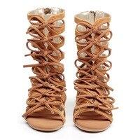 XDD sommer stiefel High-top mode Römischen mädchen sandalen kinder gladiator sandalen kleinkind baby sandalen mädchen hochwertige schuhe