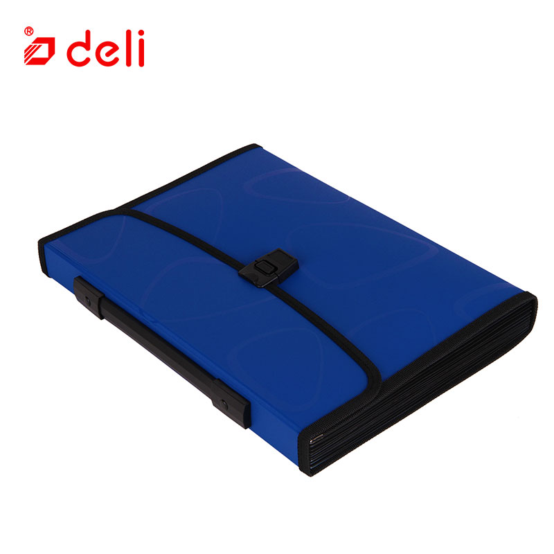 Image 2 - Deli A4 Size Folder Document Bag Expandable Filing Storage Document File Folder Organizer Expander Holder Bag Business Briefcase-in File Folder from Office & School Supplies
