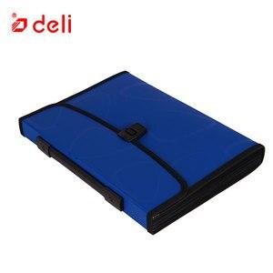 Image 2 - 델리 a4 크기 폴더 문서 가방 확장 파일링 스토리지 문서 파일 폴더 주최자 확장기 홀더 가방 비즈니스 서류 가방