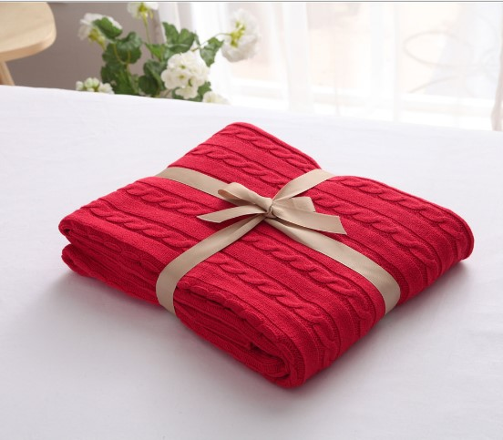 Image 2 - CAMMITEVER 100% Cotton Warm Soft Fleece Blankets Thick Plush Throw Sofa Bed Plane Plaids Solid Bedspreads Home Textile-in Blankets from Home & Garden