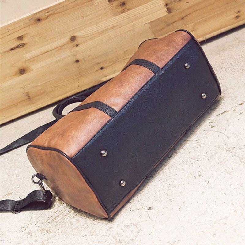 PU läder resväskan snygga kvinnor casual handväska män resväskor - Väskor för bagage och resor - Foto 4