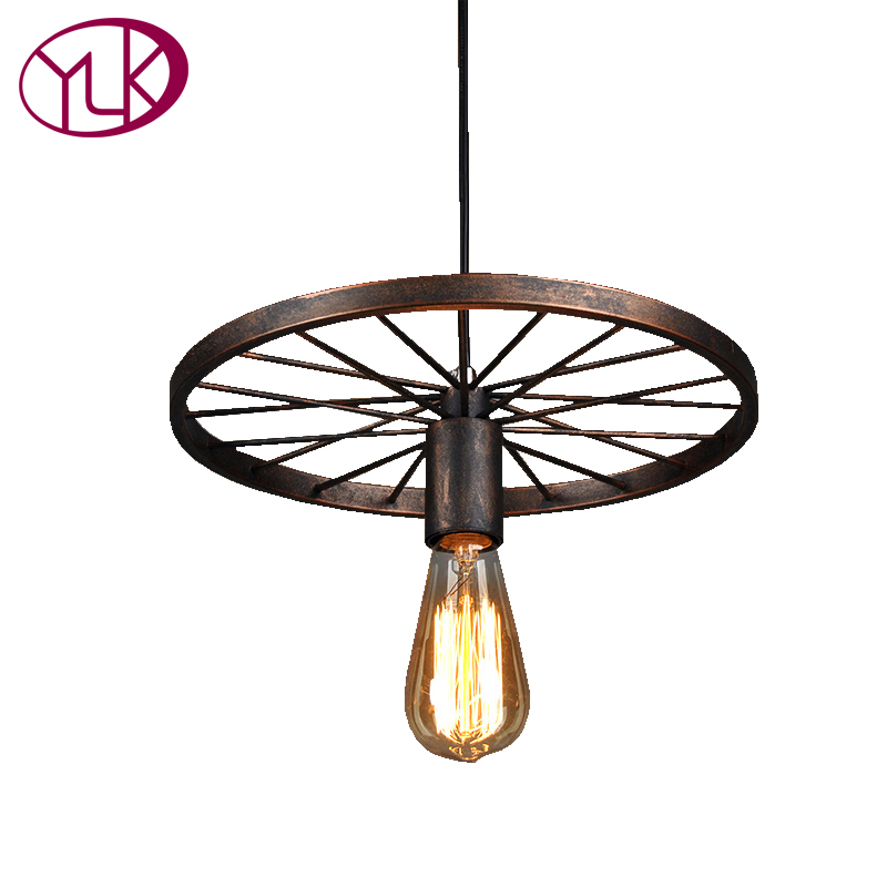 Youlaike Single Light Vintage Pendant Lights Rust/Black Hanging Loft Industrial Pendant Lamp Dining Room Bar Lighting Fixture loft industrial rust ceramics hanging lamp vintage pendant lamp cafe bar edison retro iron lighting