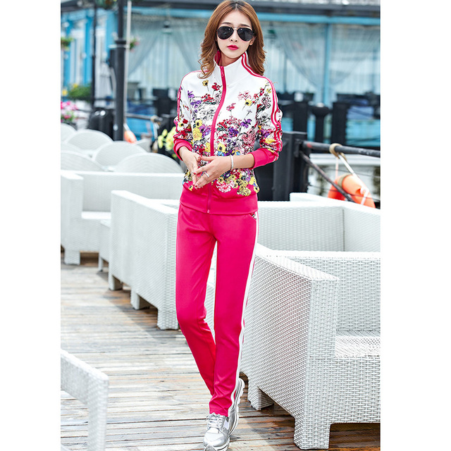 2021 Spring Zipper Cardigan Top and Trousers up and down Two-piece fashion Sweet Maiden long-sleeved Cardigan top Pants suit 4