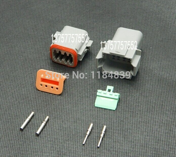 10 sets Kit 8 Pin round pin Waterproof Electrical Wire Connector Plug Deutsch Style Enhanced Seal Shrink Boot Adapter black 50 sets 4 pin dj3041y 1 6 11 21 deutsch connectors dt04 4p dt06 4s automobile waterproof wire electrical connector plug