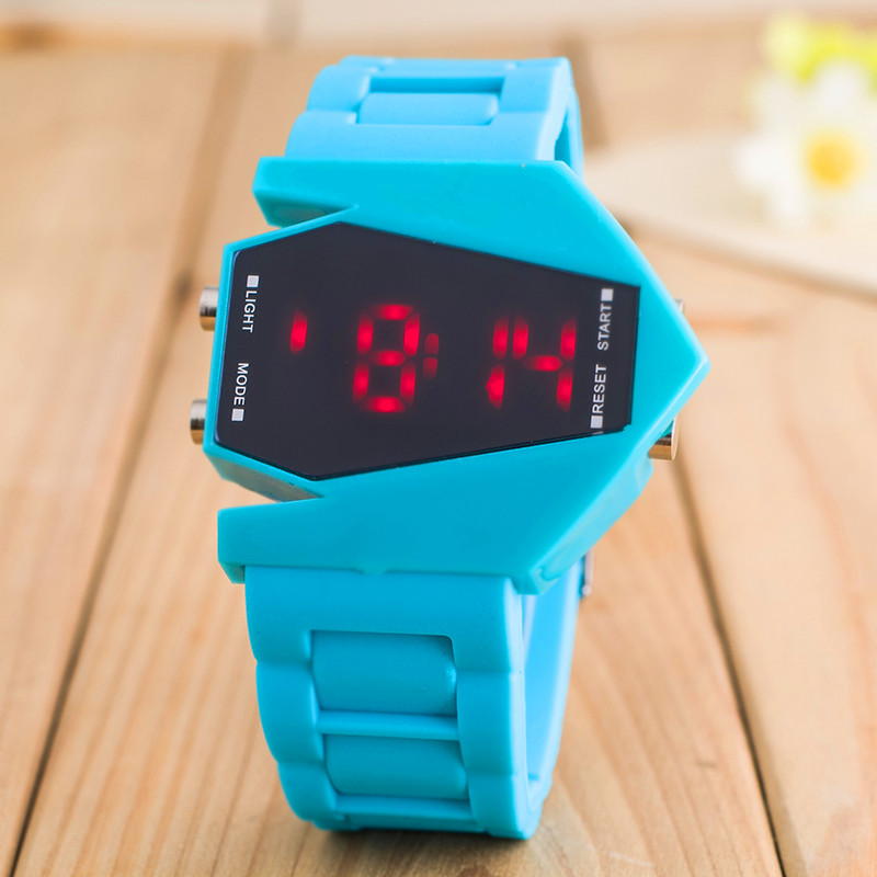 HOT Men's Sports LED Digital Watches Colorful Silicone Bracelet For School Boy Wristwatch Digital Electronic Watch Special Gift