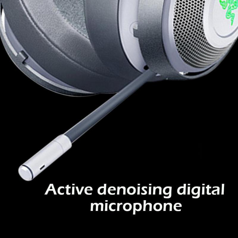 Casques de jeu Razer Kraken 2m filaire noir/blanc 32Ω 123dB casque de jeux sur l'oreille casque avec Microphone pour jeux LOL PUBG - 6