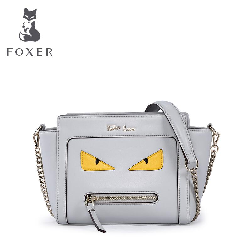 ФОТО FOXER2016 new high-end luxury fashion casual leather shoulder bag Messenger bag 100% high-quality brand-name famous women
