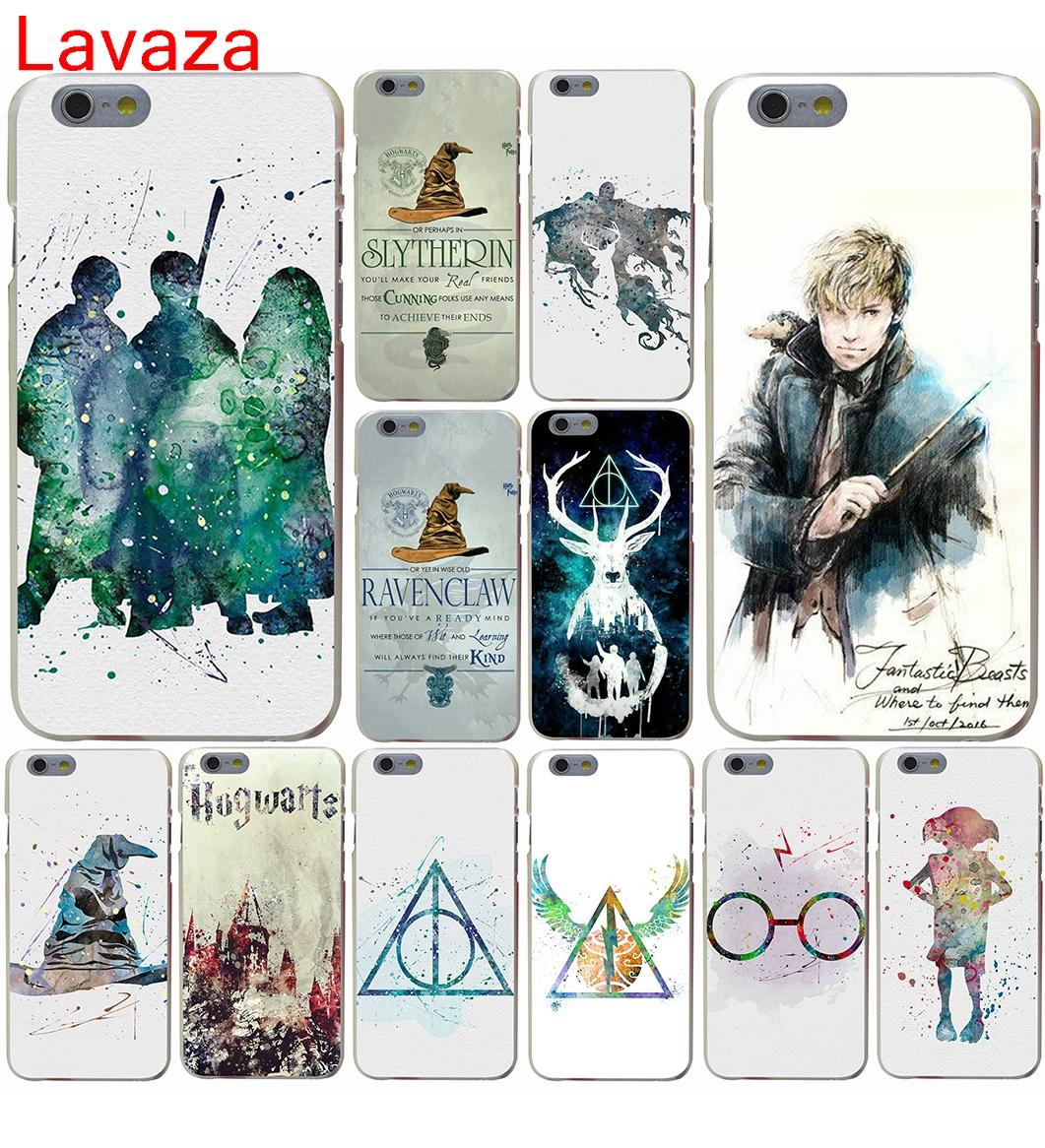 Lavaza Harry Potter Watercolors Hard Case for iphone 4 4s 5c 5s 5 SE 6 6s 6/7/8 plus X for iphone 7 case