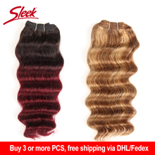 Sleek Brazilian Deep Wave Human Hair Weave Bundles Deal Natu