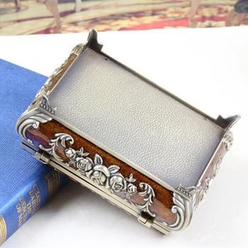 Size L Vintage Jewellery Case Fashion Jewelry Box Russian Style Zinc alloy Metal Trinket Box