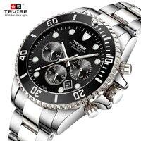 TEVISE Brand Men Quartz Watch Men's Watches Top Brand Luxury Sport Stainless Steel Clock Male Wrist Watch Relogio Masculino