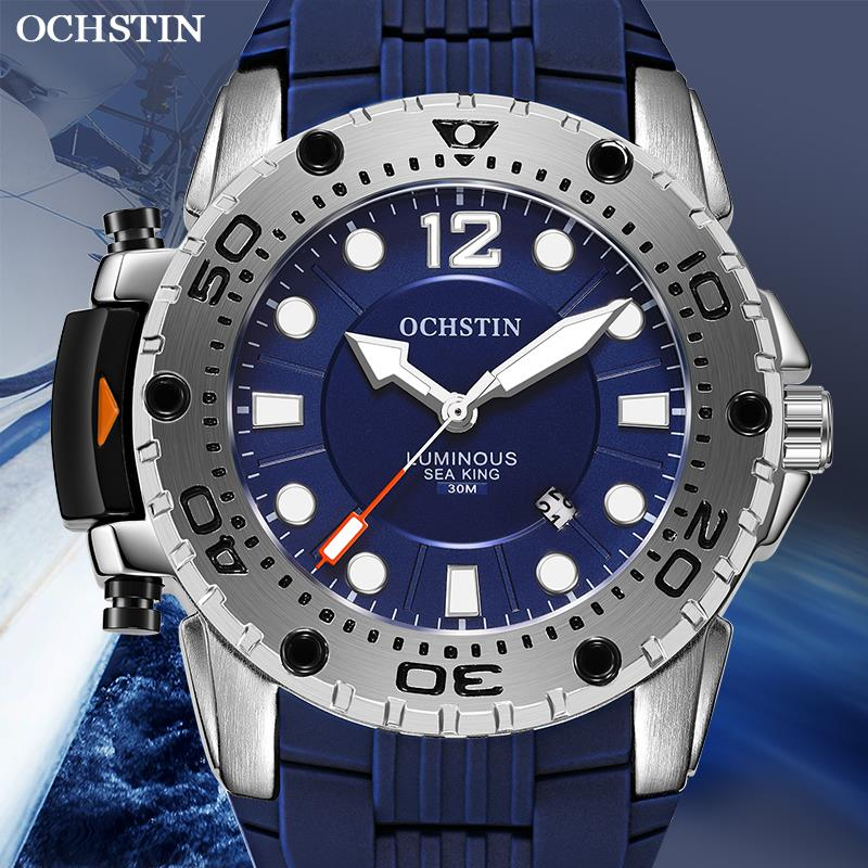 OCHSTIN Top Brand 2019 Men New Fashion  Luxury Sport Watch Quartz Waterproof Military Silicone Strap Wrist Watch Clock Relogio