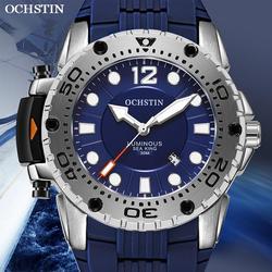 Ochstin marca superior 2019 homens nova moda luxo esporte relógio de quartzo à prova dmilitary água militar silicone pulseira relógio de pulso relogio