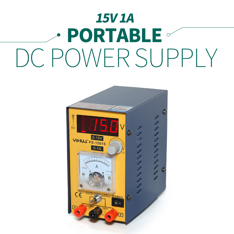 Light weight Mini YH-1501S Variable Voltage  Regulated Power Supply