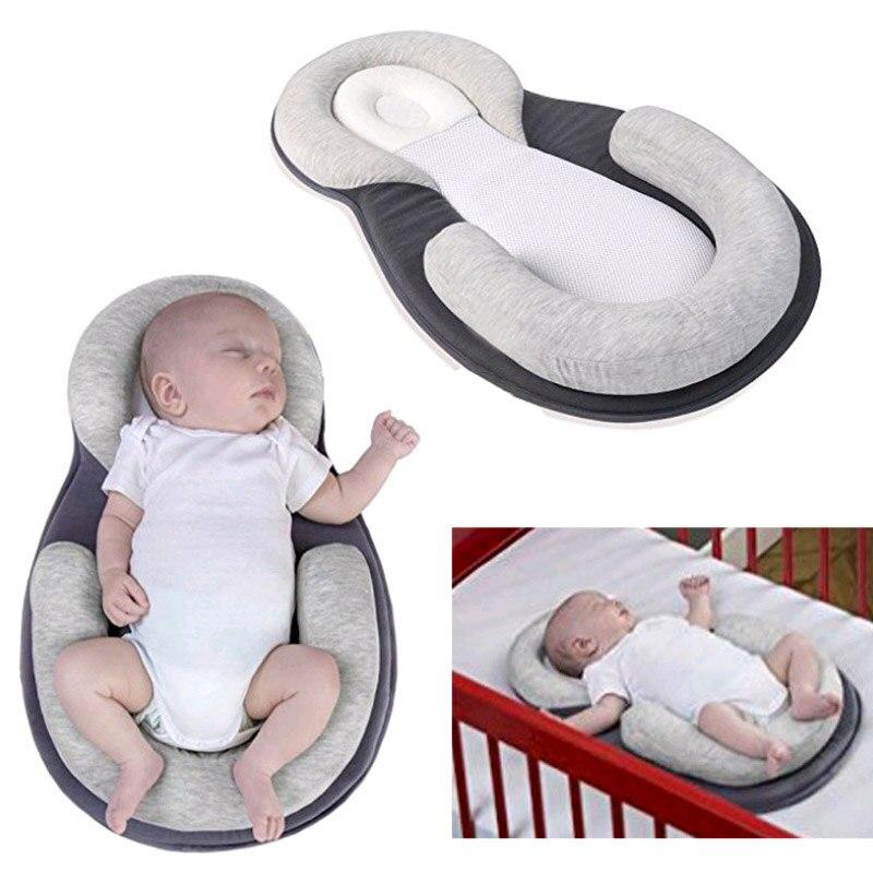 Multifunktions Baby Krippe Reise Schlaf Kissen Neugeborenen Anti-rollover Sicherheit Kissen Baby Schlaf Positionierung Pad Tragbare Klapp Bett