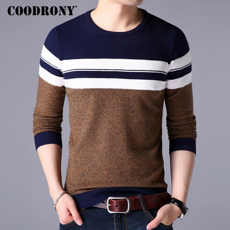 COODRONY Christmas Sweater Men Clothes 2018 Autumn Winter Casual O-Neck Cashmere Wool Pullover Men Thick Warm Mens Sweaters 8255