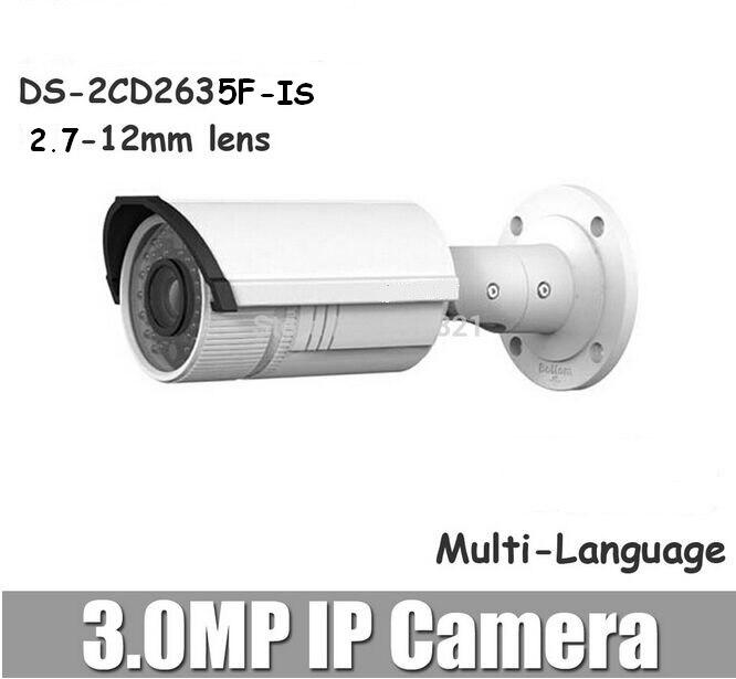 bilder für Hikvision neue ds-2cd2635f-is zu ersetzen ds-2cd2632f-is 3.0mp ip-kamera 2,7-12mm variabler brennweite 1080 p ip66 ir audio/alarm