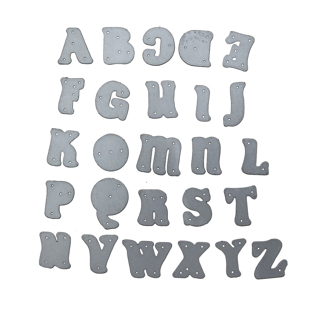 1set steel capital alphabet letter cutting dies embossing stencils diy scrapbooking card album photo painting template