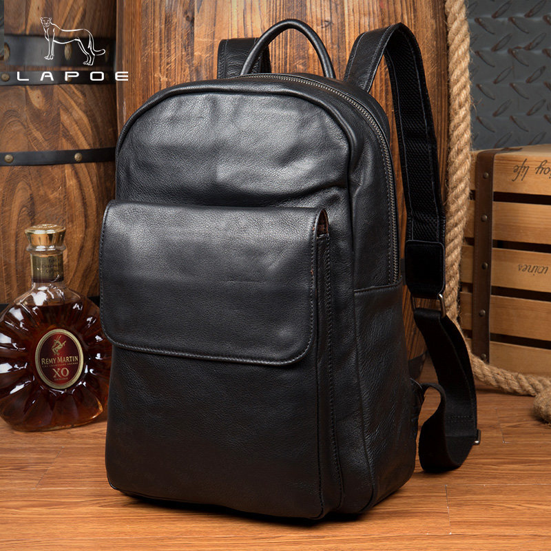 Genuine Leather Man And Women Backpack Youth Travel Rucksack School Book Bag Male Laptop Business bagpack mochila Shoulder Bag стоимость