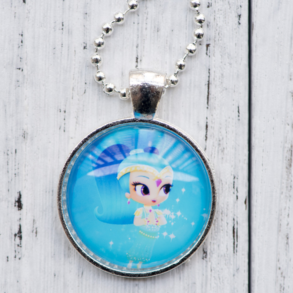 Cabochon Necklace Shimmer and Shine Photo Pendant Glass Cabochon Necklace Handmade Women ...