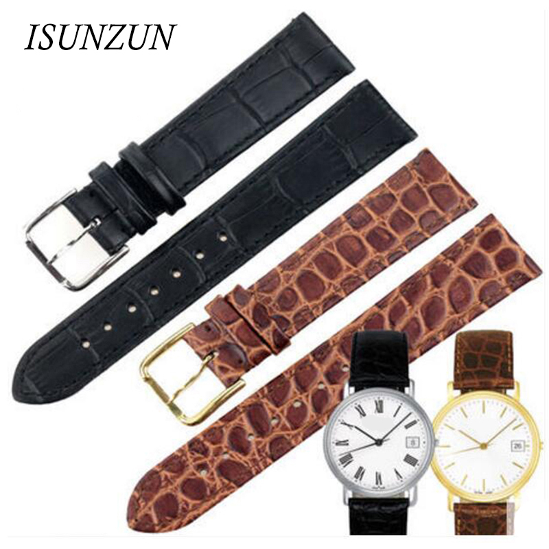 ФОТО ISUNZUN Men's WatchBand For Tissot 1583 T52 Mind Watch Band T57/T95 Male Top Quality Ultrathin Watch Genuine Leather Watch Strap