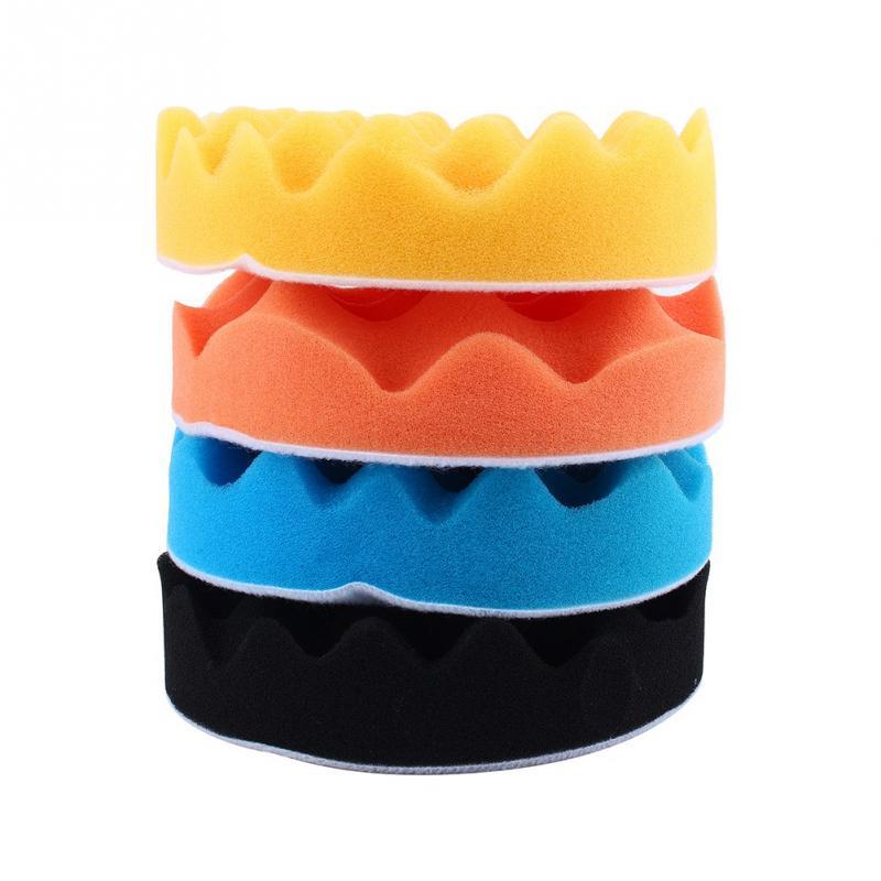 4Pcs 6 Inch Car Polishing Sponge Foam Pads Buffing Wax
