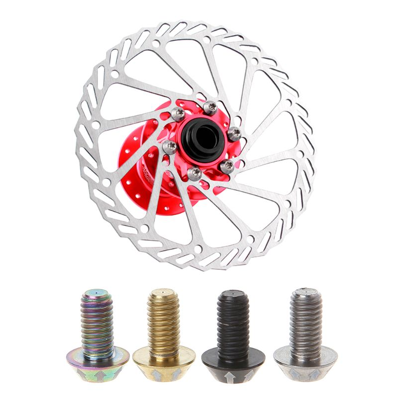 Bicycle Screw Brake Disc Bolt Titanium Alloy M5x10mm Repair Tools Replacement Accessories in Bicycle Brake from Sports Entertainment