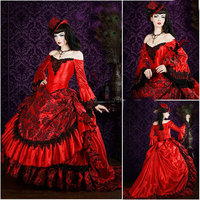 R 055 Victorian Gothic/Civil War Southern Belle loose Ball Gown Dress Halloween Vintage dresses Custom made