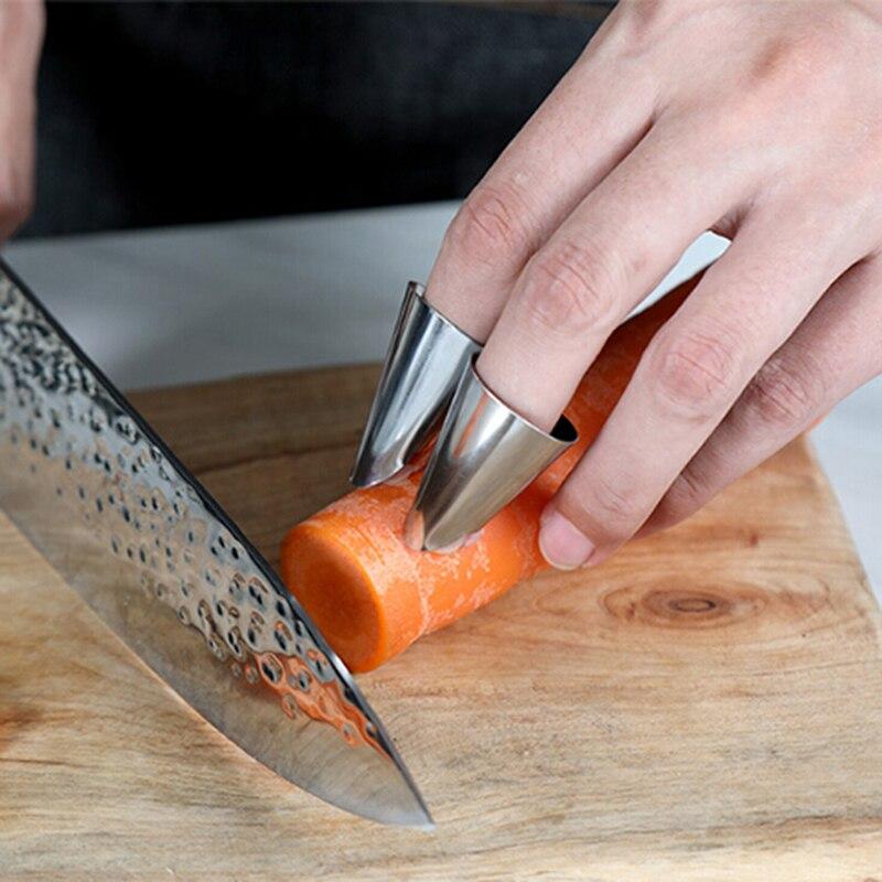Защита для пальцев из нержавеющей стали, защита для арахиса, защита для овощей, пилинг, защита для пальцев, режущий инструмент