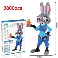 DOLLRYGA 3800pcs loz Diamond Micro Block Huge Cartoon Character Gear Toy for Children Juguetes Large Educational Diamond Bricks