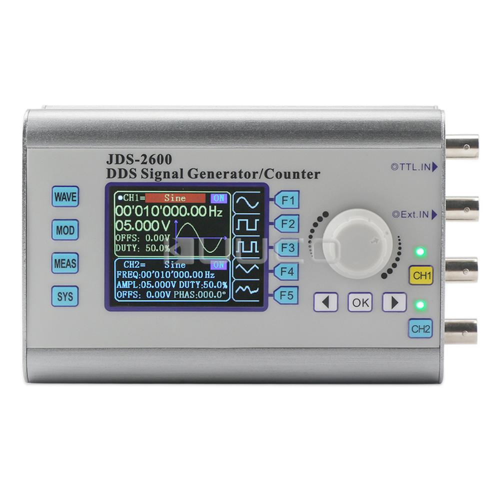Signal Generator Digital Dual-channel High Precision DDS function generator Frequency Generator Arbitrary Waveform 266MSa/s 6MHz mhs 5212p power high precision digital dual channel dds signal generator arbitrary waveform generator 6mhz amplifier 80khz