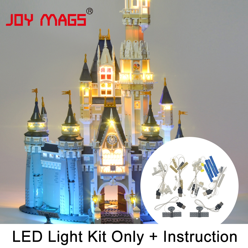 JOY MAGS Led Light Kit (Only Light Set) For Cinderella Princess Castle City Block Compatible with Lego 71040 16008