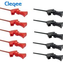Cleqee P5003 10 шт. мини захват SMD IC Тест Крюк Клип Датчик перемычки Логический анализатор тест ing аксессуары