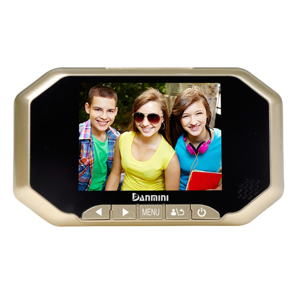 DANMINI 3.5 LCD Color Screen Doorbell Viewer Digital Door Peephole Viewer Camera Door Eye Video Record 160 Degrees Night Vision цена