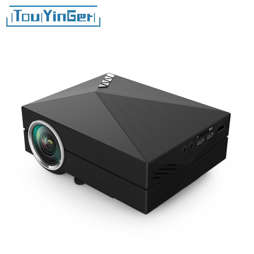 Touyinger GM60 Mini LCD Projector 1000 Lumens AC3 Support Full HD Video Portable LED Home Theater Cheap HDMI Proyector Beamer стоимость