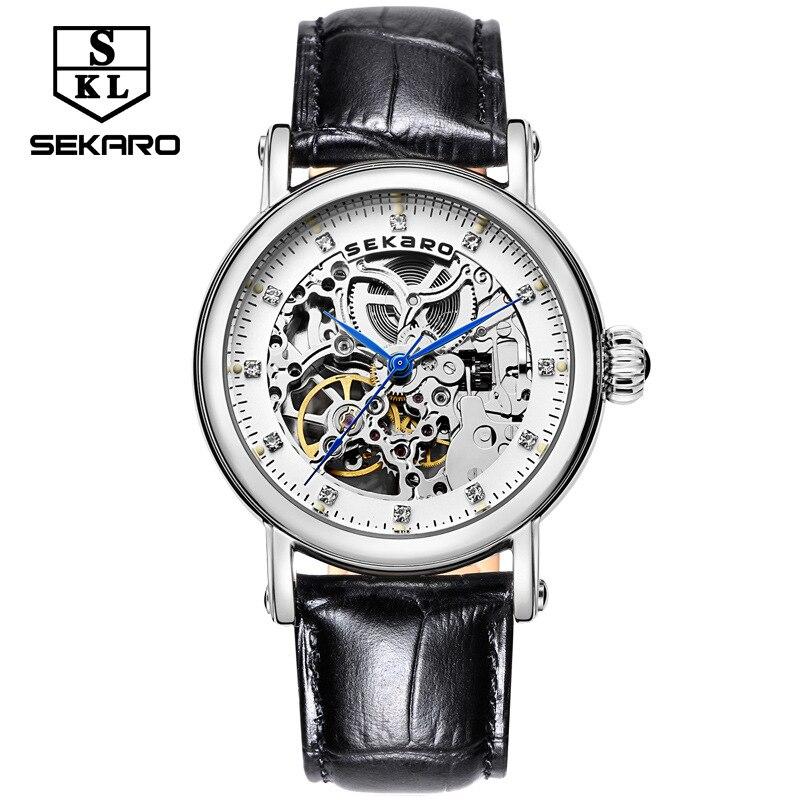 Sekaro hot watches ladies automatic machinery women belts fashion table waterproof hollow top luxury brand bracelet watch couple
