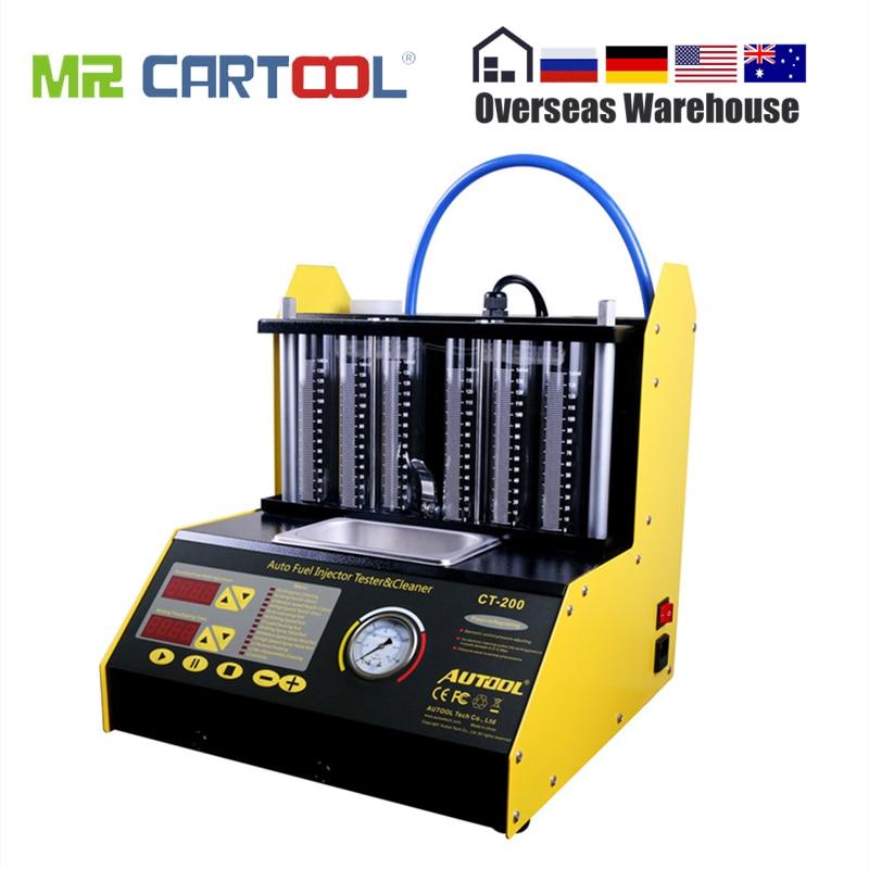 Autool CT200 Auto Kraftstoff Injektor Reinigung Maschine Auto Ultraschall Reiniger Tester 6 Benzin Zylinder Besser Als Starten CNC602A