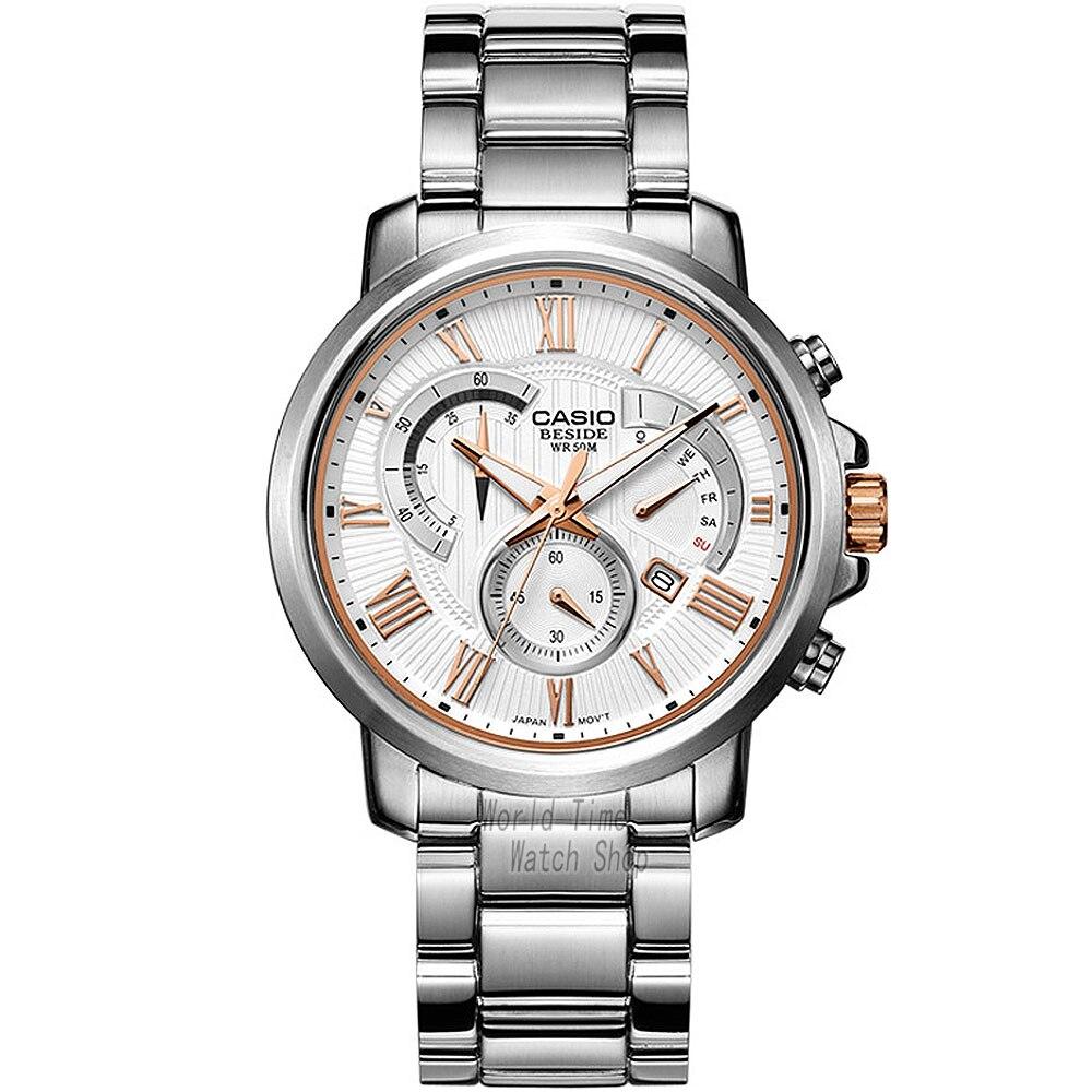 Casio watch Men's quartz business men's watch waterproof watch BEM-506BD-7A