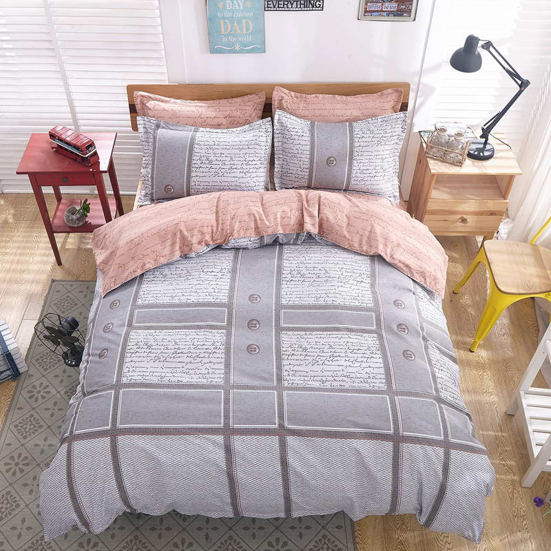 Home Textile Cotton Bedding Sets Multicolor Striped Star