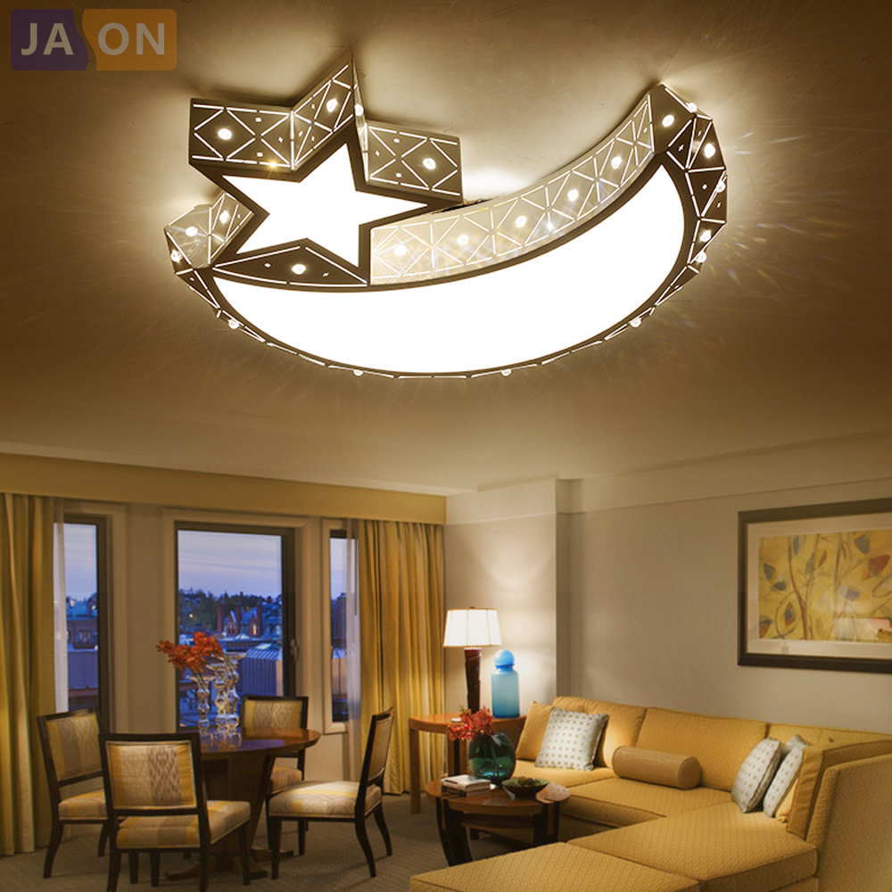 LED Modern Iron Acrylic White Moon And Star LED Lamp.LED Light.Ceiling Lights.LED Ceiling Light.Ceiling Lamp For Foyer Bedroom led modern iron acrylic white moon and star led lamp led light ceiling lights led ceiling light ceiling lamp for foyer bedroom
