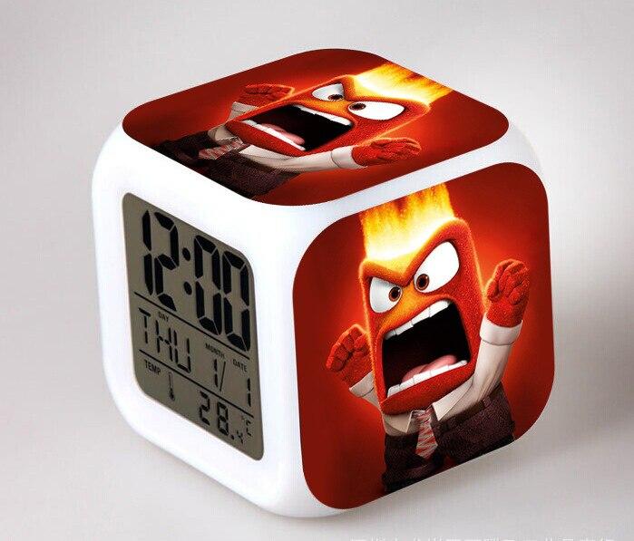 The Film/Movie Inside Out Digital LED 7 Color Flash Night Light Alarm  Clocks Bedroom Clocks Reloj Despertador