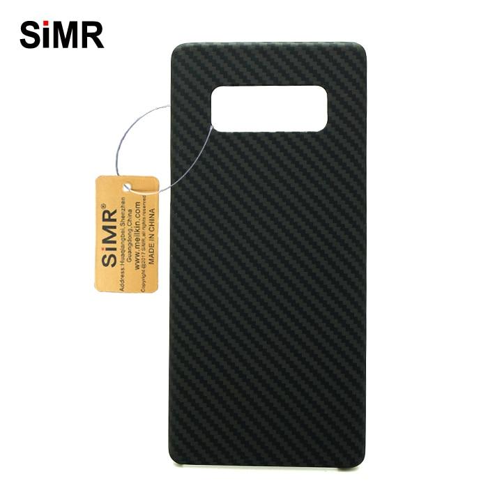 100% Réel de Fiber De Carbone Cas Pour Samsung Note 8 Pleine Couverture Couverture De Caisse de Luxe Pour Galaxy Note8 Hexagone Araignée Carbone fibre Cas