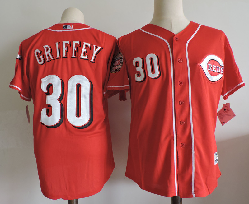MLB Mens Cincinnati Reds Ken Griffey Jr jerseys ...