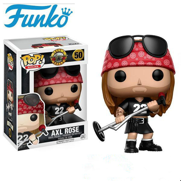 Funko pop Official Rocks: Guns N Roses - Axl Rose Vinyl Action Figure Collectible Model Toy with Original BoxFunko pop Official Rocks: Guns N Roses - Axl Rose Vinyl Action Figure Collectible Model Toy with Original Box