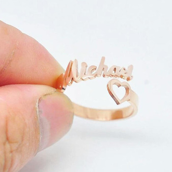 Женское кольцо с сердечками, регулируемое Золотое кольцо из нержавеющей стали, обручальное кольцо BFF
