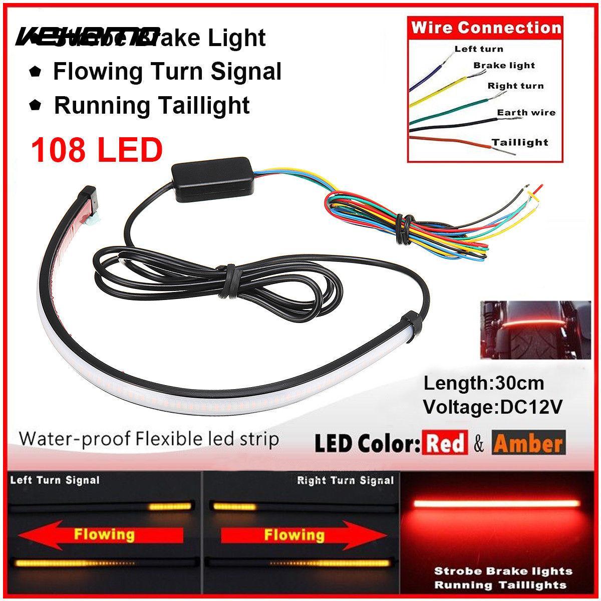 Vehemo Qui Coule LED Voyant Signal Lampe Carénage Clignotants Lumière Séquentielle Switchback Moto Durable Remplacement