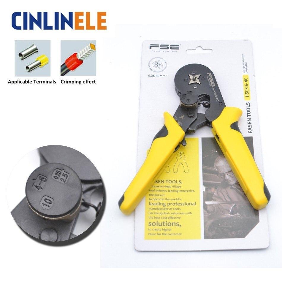 HSC8 6-4 Exquisite Adjustable Precise Crimp Pliers Terminal Hand Tools Useful